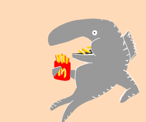 Fish eating chips (from McD)