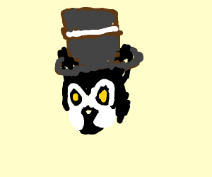 Jenna's old dog wearing a top hat (YT)