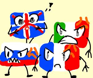 UK flips off Russia, Italy, Ireland, & France