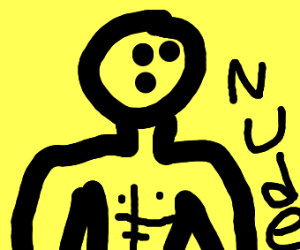 naked yellow man