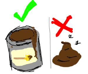 It's brown paint, not poop