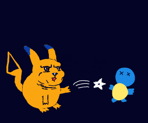 Squtel getting killed by strange Pikachu