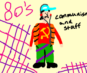 80's commie leader