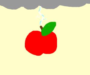 Apple struck by lightning