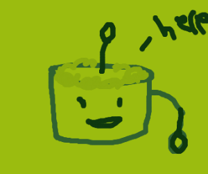 Sentient cake gives you a spoon