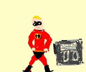 Mr. Incredible lost weight