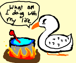 Swan cooking a Thermometer