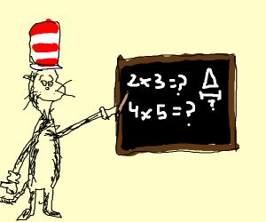 Cat n the hat math teacher