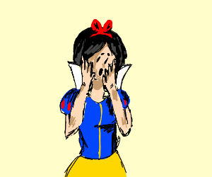 Surprised snow white