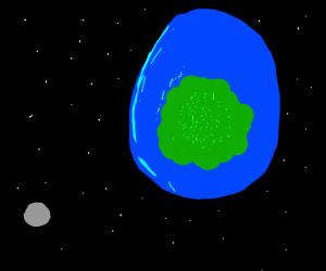 Earth as deviled egg