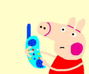 Peppa Pig Can T Whistle Drawception