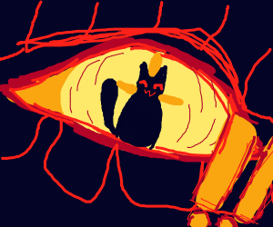 Cat inside a dragon's eye