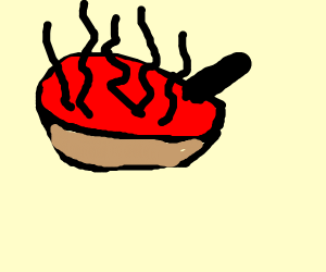uncomfortable animated bowl of soup
