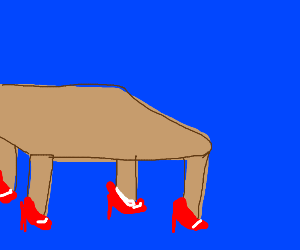 Table wearing Shoes