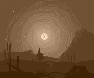 High desert at night