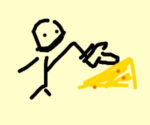 Poke the cheese