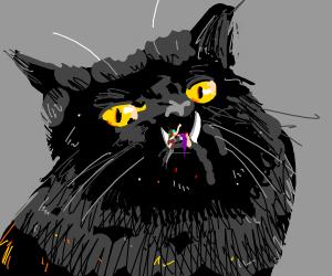 Cat monster eating kids