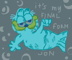 Garfield reaches his final form, destroys Jon