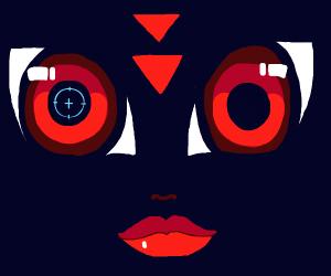 Robot lady face