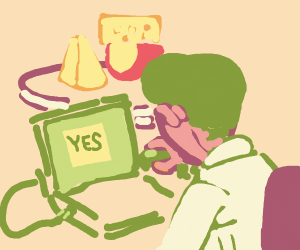 drawception always says yes to cheese