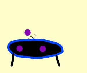 Grape on trampoline