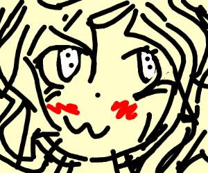 a vibrating anime girl