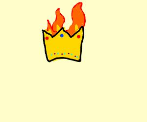 a crown set on fire lol
