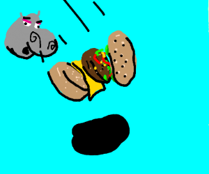 Gloria dropped her Borger