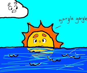 sun is drowning