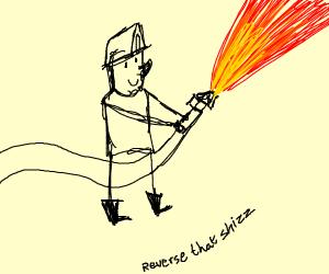Pyro fireman