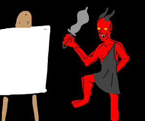 Demon being Painted
