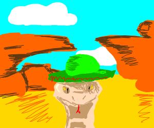 Rattlesnake In Desert