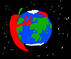 Chilli pepper on Earth
