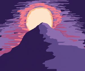 Sunset mountain vista
