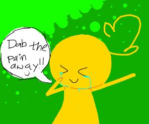 Dab the pain away