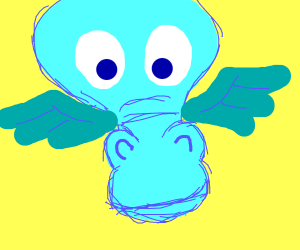 A teal dragon
