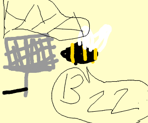 Swatting a bumble bee