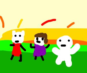 SomethingElseYT and other animator on sunset