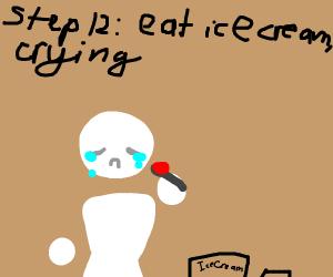 step 11: they die because of choking