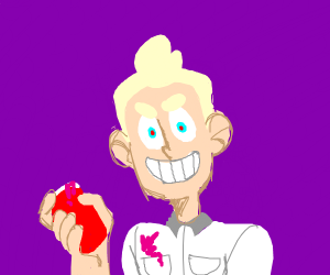 Insane Doctor Holding Someones Heart