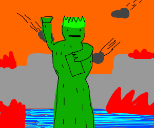 statue of liberty while world is ending