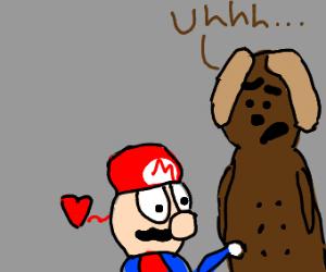 Mario+dog nipples=true love