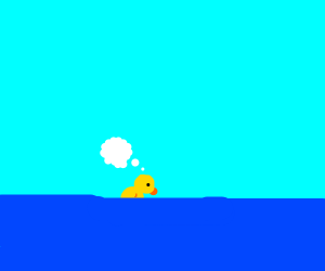 A Duck with a thinking bubble