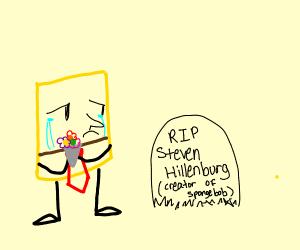 Spongebob cries Steven Hillenburg RIP