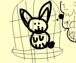 caged bunny will get his revenge