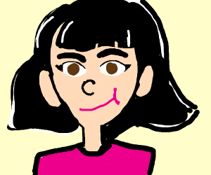 girl with black hair (good drawing btw)