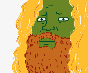 the hulk with blonde hair and beard