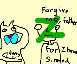 deviantart user staring at its furry oc