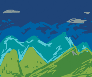 a mountain range (possibly)