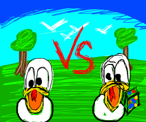 donald duck vs donald duck with cube